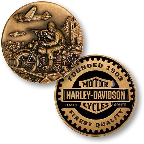 World War II Harley-Davidson Challenge Coin