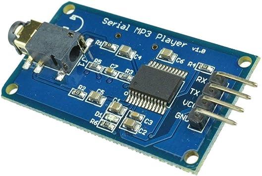 Hiletgo Yx5300 Uart Control Serial Mp3 Music Player Module For Arduino Avr Arm Pic Amazon Com