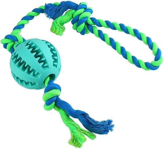 Zona de Magic IQ tratar pelota con cuerda juguete para perros y ...
