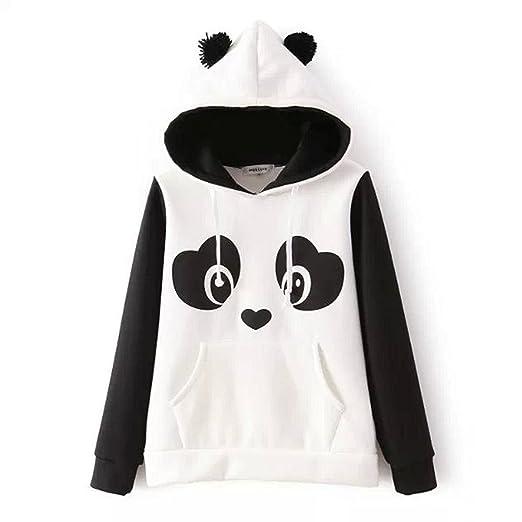 Mujer Sudaderas con Capucha Elegante Invierno Otoño Panda Hoodies Tops Manga Fiesta Estilo Larga con Bolsillo Hippie Hipster Sweatshirts Kawaii Casual Joven ...