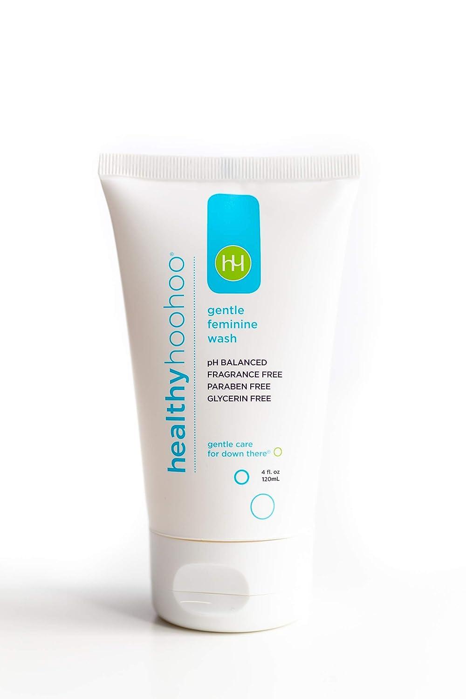 healthy hoohoo Gentle Feminine Wash - Fragrance-Free and All Natural (4 fl oz)
