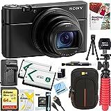 Photo : Sony DSC-RX100M6 RX100 VI Cyber-shot Digital Camera 20.1 MP with 24-200mm Zoom Lens + 64GB SDXC Memory Dual Battery Kit + Accessory Bundle