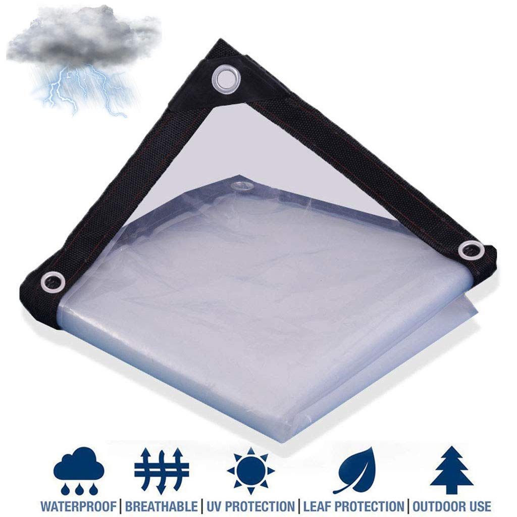5mil Thick Waterproof Large Tarps Heavy Duty Waterproof UV Resistant Rip and Tear Proof with Grommets and Reinforced Edges Tarpaulin Camping Clear