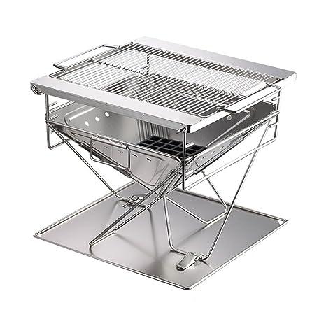 Barbecue Grill Acero Inoxidable Barbacoa de carbón, portátil ...