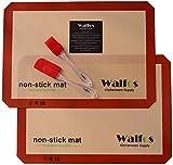 Walfos Silicone Baking Mat-Set of 2 Half Sheet (Thick & Large 11 5/8