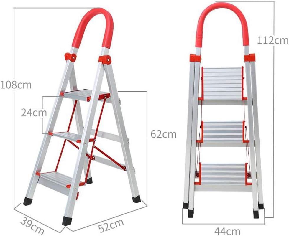 Escalerilla, Escalera de 3 pasos con patas antideslizantes, aluminio de alta resistencia, escalera plegable portátil para el hogar, capacidad de carga de hasta 150 kg: Amazon.es: Bricolaje y herramientas