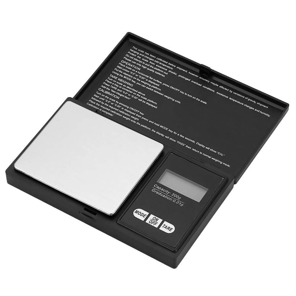 CTGVH Mini-Balance numérique, Balance de Bijoux de Poche 200g, Balance électronique Intelligente avec 7 unités, écran LCD rétro-éclairé (Batterie Incluse) Balance électronique Intelligente avec 7 unités