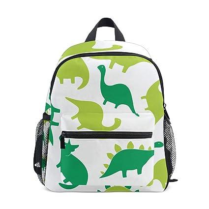 FANTAZIO Mochilas Niños Verde Dinosaurios Escolar Libreta Mochila Daypack