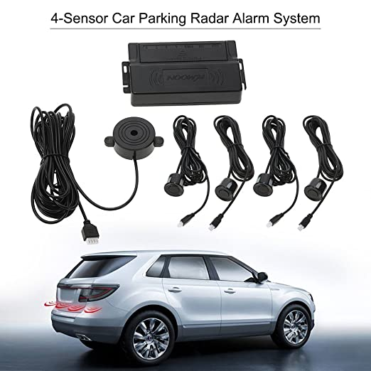 KKmoon Asistencia de Aparcamiento 4 Sensor Radar Kit Reverse Alarma Sistema para Coche Auto: Amazon.es: Coche y moto