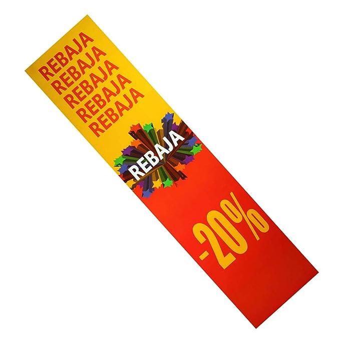 2 unidades de cartel de rebajas vertical 20%: Amazon.es: Hogar