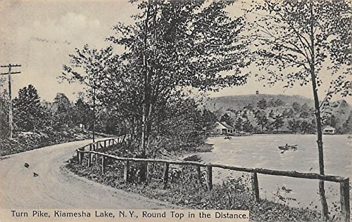 Turn Pike Round Top in the Distance Willow Lane, New York, Postcard