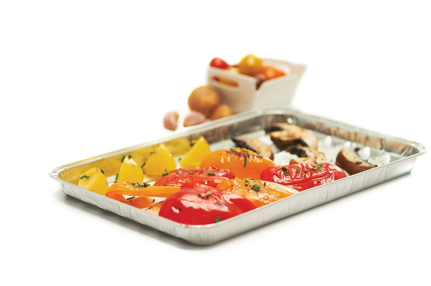 RL Treats BBQ Grill Pans/Aluminum Foil Grilling Trays, Pack of 3 by RL Treats (Image #1)