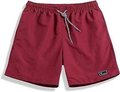 TALLA 3XL. SHEKINI Hombre Pantalones de Playa Pantalones con Costuras de Color Pantalones Cortos Pantalones de Playa