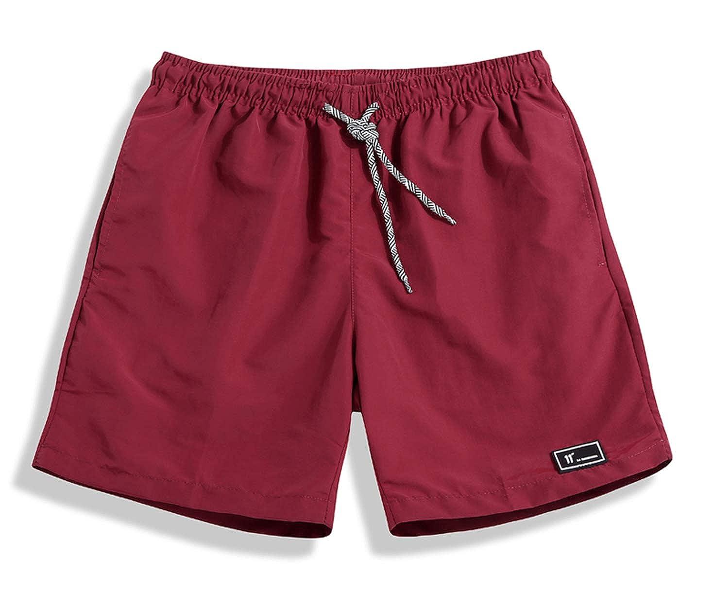 SHEKINI Pantalones Cortos para Hombre Rápico Seco Natación Bañador Cortos Ajustables Baño con Bolsillos Deportivos Trajes de Baño Male Surf para Playa Piscina