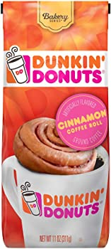 Dunkin' Donuts Ground Coffee 11 Ounces Cinnamon Coffee Roll