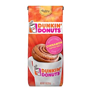 Dunkin' Bakery Series Cinnamon Roll Flavored Ground Coffee, 11 Ounces