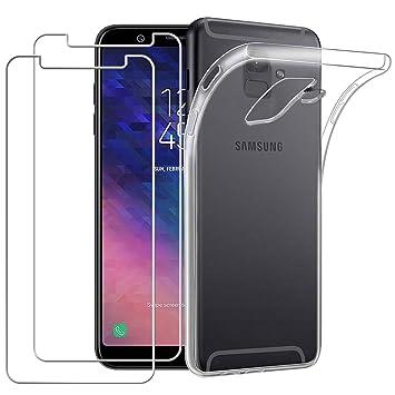 Yoowei Carcasa Samsung Galaxy A6 Plus 2018/A6 + (2018) con [2-Pack ...