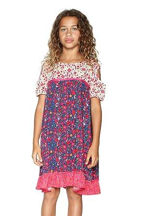 Desigual Robe Topeka Azul Klein Bleu 18sgvw26  Amazon.fr  Vêtements ... 33f3b22bdb17