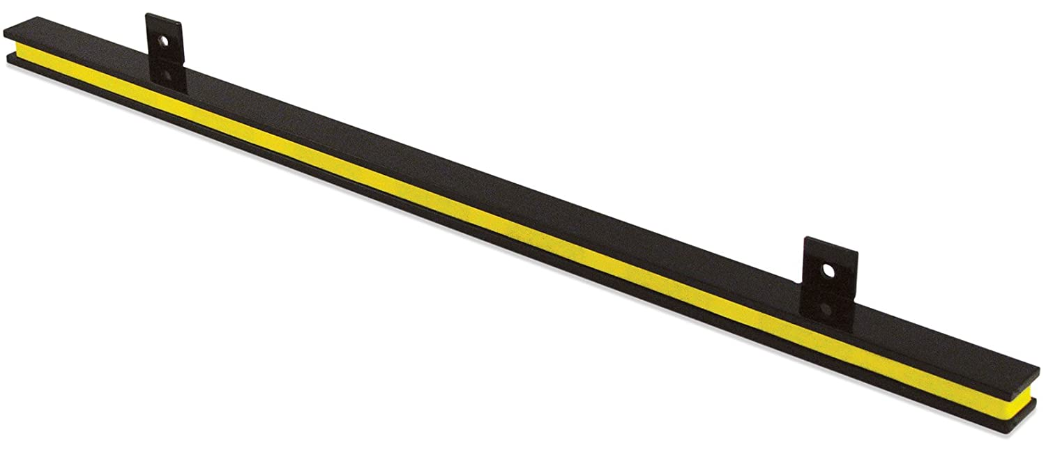 """24"""" Heavy-Duty Magnetic Tool Holder, Easy-Install, 20-lb per inch Pull Force, Black Powder Coat with Yellow Stripe (AM1PLC)"""