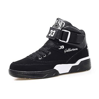 FZUU Men's High Top Sneakers Fashion Street Basketball Sports Casual Shoes | Fashion Sneakers