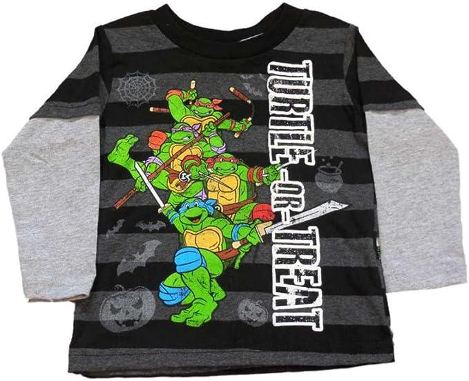 Teenage Mutant Ninja Turtles Infant Toddler Boys Black Turtle or Treat Shirt