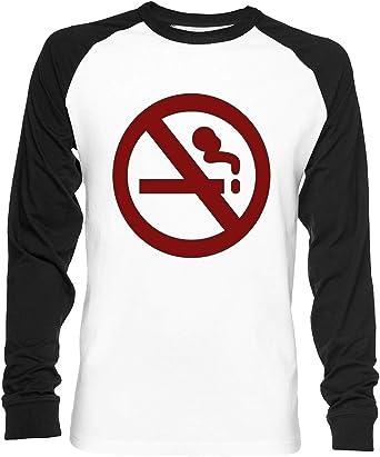Marceline No De Fumar Camisa Unisex Camiseta De Béisbol Manga Larga Hombre Mujer Blanca Negra: Amazon.es: Ropa y accesorios