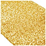 Gold Bridal Shower Decorations 12x108-Inch Wedding Table Runners Shiny Gold Sequin Table Runners 15pcs ~0908S