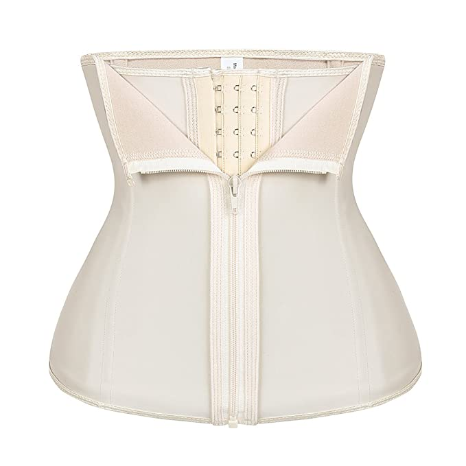 17e6a79a13c HEYME Women Waist Trainer Cincher Tummy Slimmer Adjustable Firm Control  Steel Boned for Weight Loss Plus Size 4XL Beige  Amazon.co.uk  Clothing