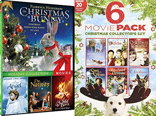 Watch by Fire Romance Spirit Holiday Films Christmas Bunny, Littlest Angel, The Nativity, A Child is Born & What I Did for Love / Sons of Mistletoe / Song For Season / Tail / Man Saved DVD Bundle (Hearth & Home Evergreen)
