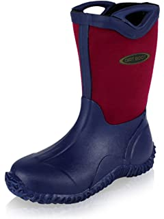 4490a266b873 Dirt Boot® Boys Girls Neoprene Wellington Muck Field Wellies Kids Bootie  Boots