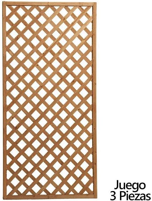 PAPILLON 8043000 Juego de Paneles Celosia Rectangular Madera 180x90 cm (3 Piezas): Amazon.es: Jardín
