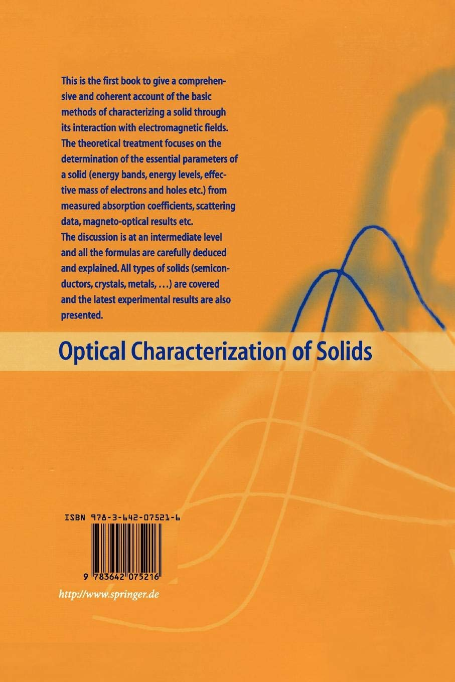 Optical Characterization of Solids