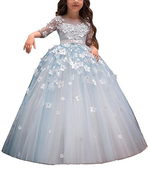 Amazon.com: Fancy vestido de niña de flores niños Floral ...