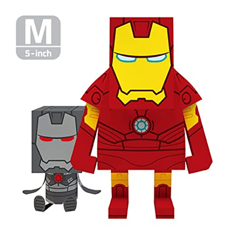 amazon com momot paper craft toy marvel iron man 5 inch m size