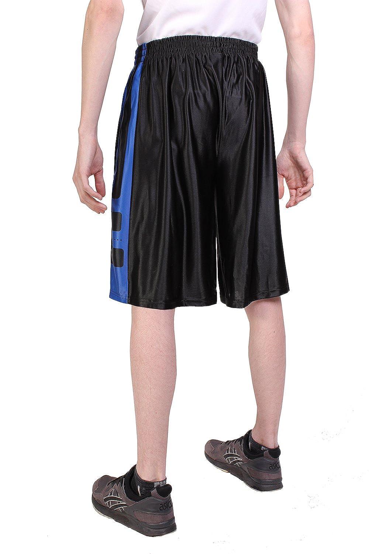 Medium - 5X Large North 15 Mens Printed Basketball Long Mesh Shorts with Side Pockets