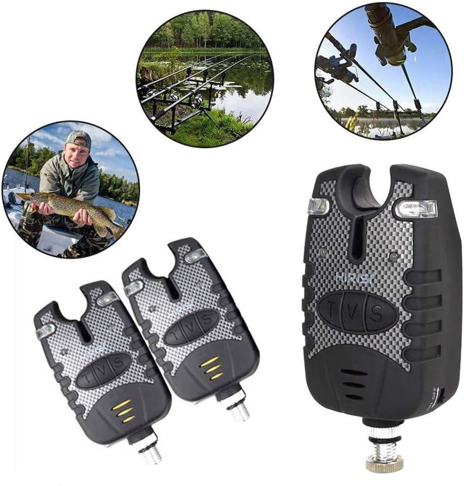 con caja de cremallera fishing Swinger indicador de alarma receptor de alarma Juego de 3 indicadores de picada inal/ámbricos Kohyum incluye alarma digital de pesca Swinger