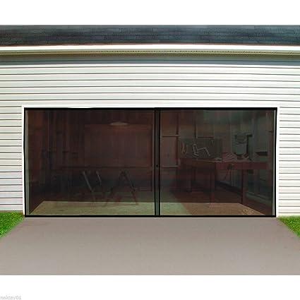 New Double Garage Door Screen 16 Ft W X 7 Ft H Magnetic Closure