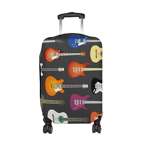 COOSUN Guitarra Eléctrica Imprimir fondo del equipaje del viaje cubiertas protectoras lavable Spandex equipaje Maleta Cubierta