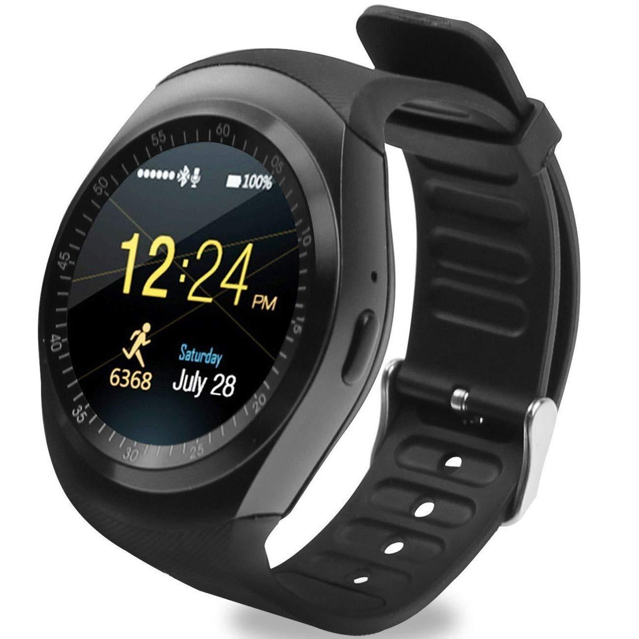 1bdf371517b Relógio Smartwatch Y1 Original Celular Inteligente Touch Bluetooth Chip  Ligações Pedômetro Câmera (BRANCO)  Amazon.com.br  Eletrônicos