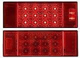 Optronics TLL26RKRed Rectangular Combination Tail Light Set