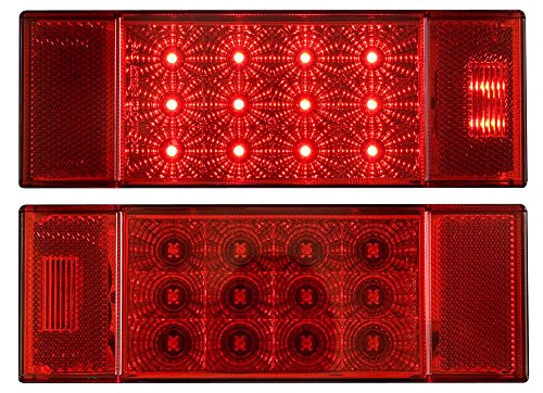 - Optronics TLL26RKRed Rectangular Combination Tail Light Set