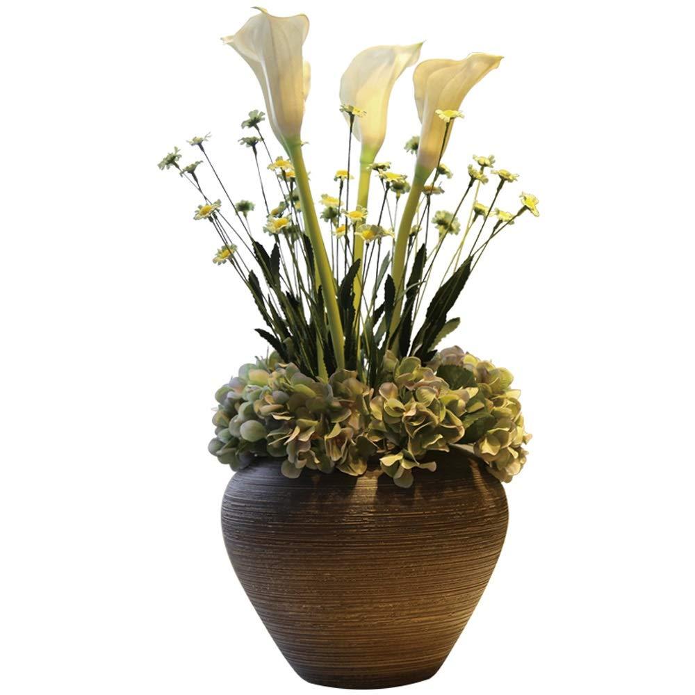 セラミック花瓶用花緑植物結婚式の植木鉢装飾ホームオフィスデスク花瓶花バスケットフロア花瓶 B07RGVRJX5