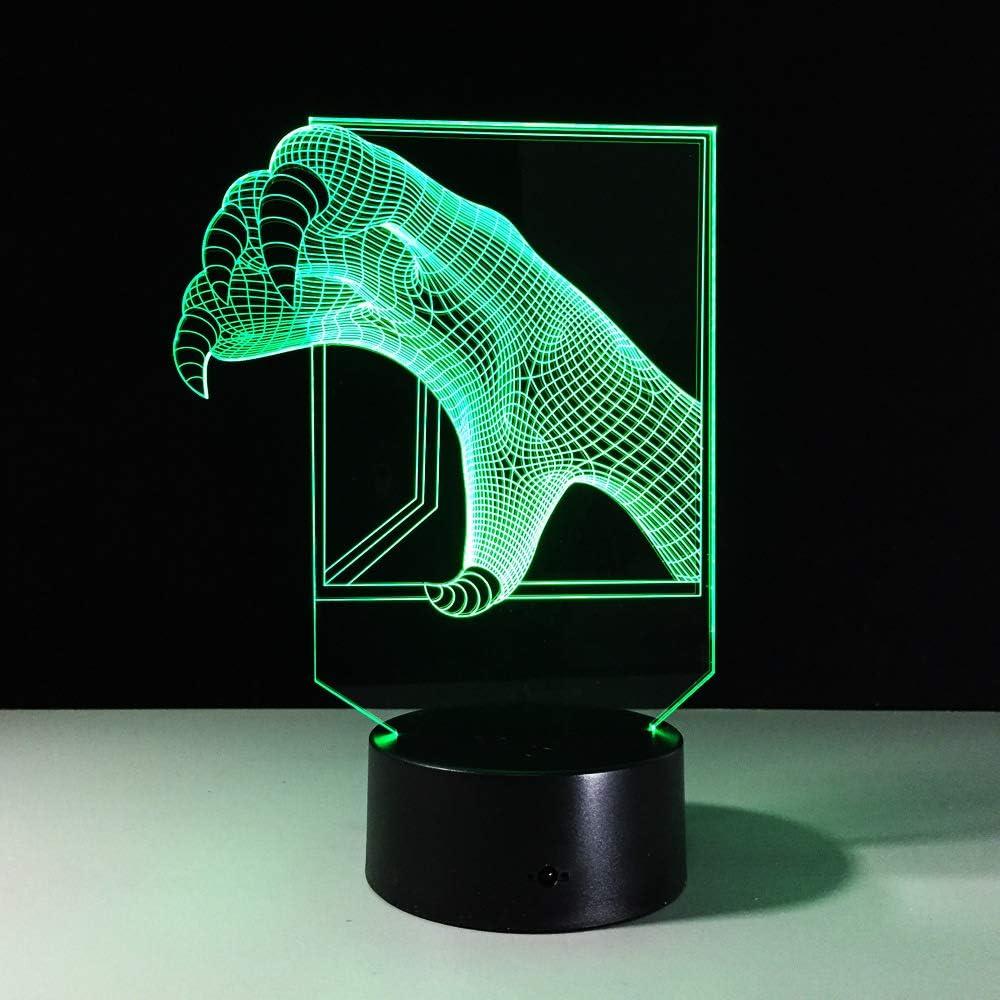 BFMBCHDJ Talons 3D Small Night Light Baby LED 7 Color Chang ...