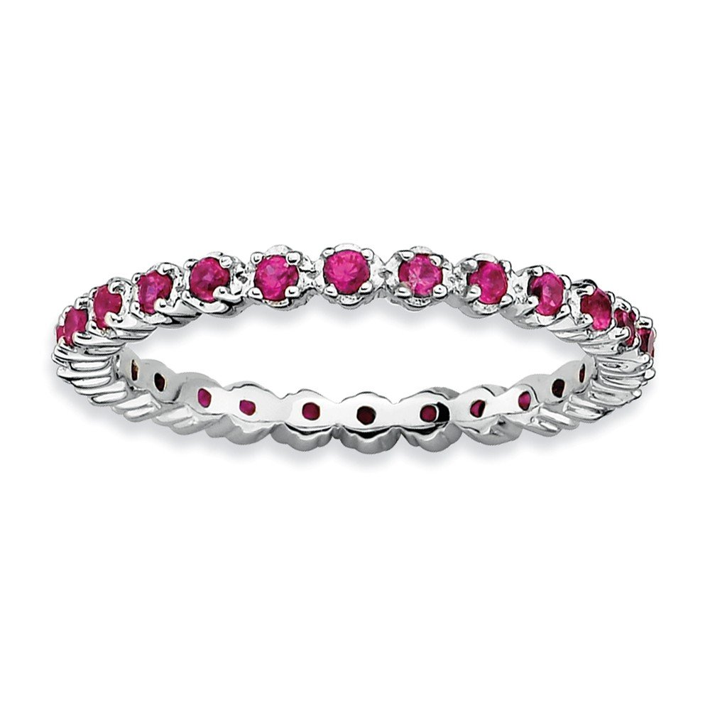 Sterling Silver Stackable Expressions Created Ruby Ring Size 5