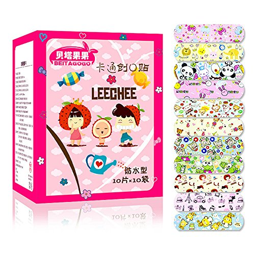 MMRM Variety Breath Patterns Bandages Cute Cartoon Band Aid For Kids Children, 100 Count Box