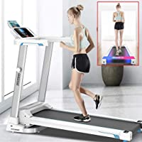 【US Fast Shipment】 Treadmills with Bluetooth Speakers &12 Preset Programs, 2.0HP Folding Electric Treadmills LCD Display…