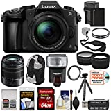Panasonic Lumix DMC-G85 4K Wi-Fi Digital Camera & 12-60mm Lens + 45-150mm Lens + 64GB Card + Battery + Backpack + Tripod + Flash + Tele/Wide Lens Kit