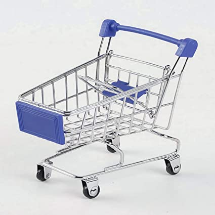 Footprintse Supermercado Creativo Mini Carrito de Compras Trolley Metal Simulación Kid Toy
