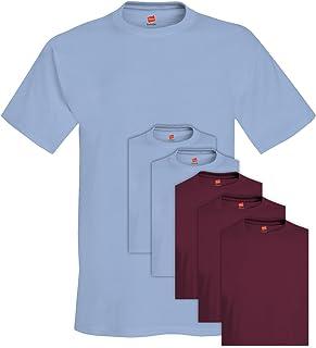 T-Shirt girocollo uomo 6 pack Comfortsoft da uomo 680 3X-Large 3 blu chiaro + 3 marrone