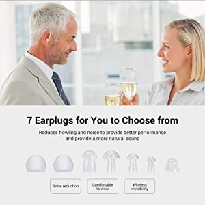 Hearing Amplifier, Rechargeable Hearing Amplifiers Personal Hearing Amplifier Device, 4 Channels Noise Reduction Digital Hearing Aid Amplifier - FDA Approved Hearing Amplifiers for Seniors and Adults (Color: Beige)